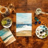 Stay at home mindful painting experience
