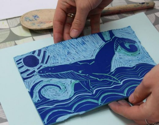 Stay at home lino cutting experience